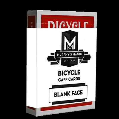 Blank Face Bicycle Cards (Red)