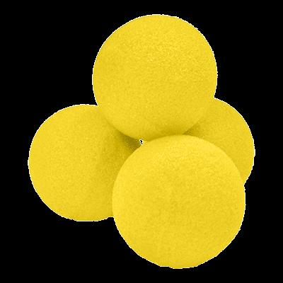 1.5'' High Density Ultra Soft Sponge Ball (Yellow) Pack of 4 from Magic by Gosh
