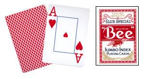 Cards Bee Poker Jumbo Index (Red)