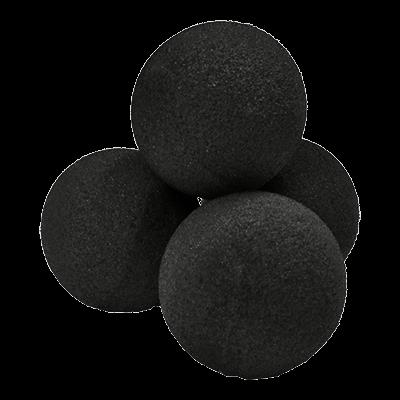 1.5'' High Density Ultra Soft Sponge Ball (Black) Pack of 4 from Magic by Gosh