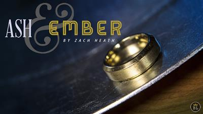 Ash and Ember Gold Beveled Size 11 (2 Rings) by Zach Heath  - Trick