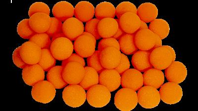1'' Super Soft Sponge Ball (Orange) Bag of 50 from Magic By Gosh