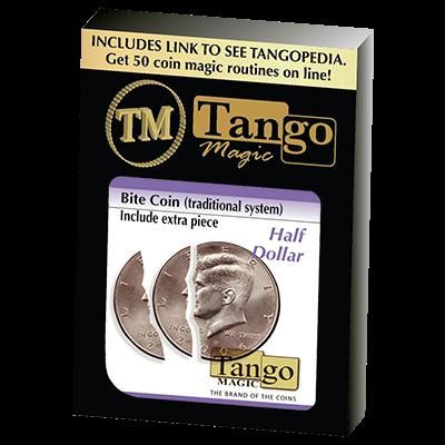 Bite Coin - (D0046)(US Half Dollar - Traditional With Extra Piece) by Tango - Trick