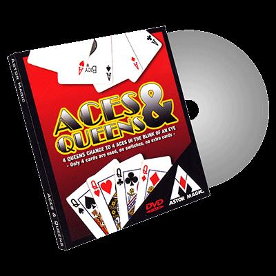 Aces and Queens (Cards Color Varies) by Astor - Trick