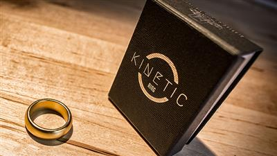 Kinetic PK Ring (Gold) Curved size 10 by Jim Trainer - Trick