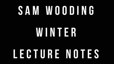 Sam Wooding 2017 Winter Lecture Notes by Sam Wooding eBook DOWNLOAD