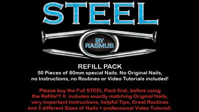 STEEL Refill Nails 50 ct. (80mm) by Rasmus - Trick