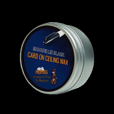Card on Ceiling Wax 15g (Sharpie Lid Black) by David Bonsall and PropDog - Trick
