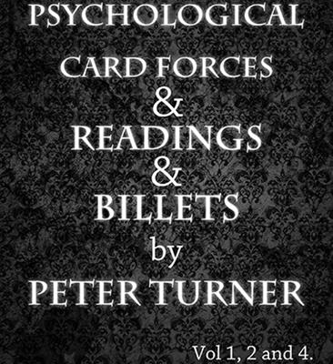 3 Volume Set of Reading, Billets and Psychological Playing Card Forces by Peter Turner eBook DOWNLOAD