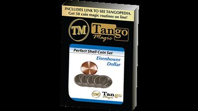 Perfect Shell Coin Set Eisenhower Dollar (Shell and 4 Coins D0202) by Tango Magic - Trick