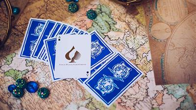 The Hidden King Blue Luxury Edition Playing Cards by BOMBMAGIC