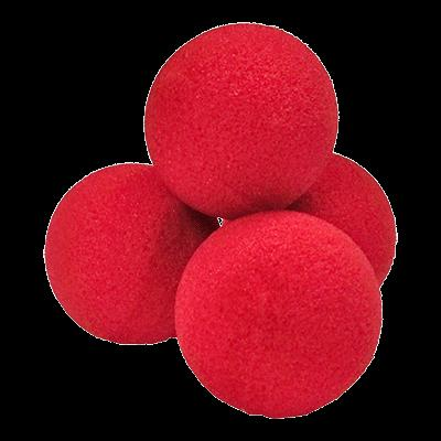 1.5'' High Density Ultra Soft Sponge Ball (Red) Pack of 4 from Magic by Gosh