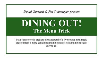 Dining Out! The Menu Trick by David Garrard and Jim Steinmeyer - Trick