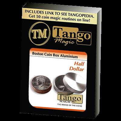 Boston Coin Box (Half Dollar Aluminum) by Tango - Trick (A0008)