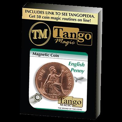 Magnetic Coin English Penny (D0027)by Tango - Trick