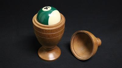 Deluxe Wooden Pool Ball Vase by Merlins Magic - Trick