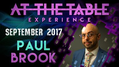 At The Table Live Lecture Paul Brook September 20th 2017 video DOWNLOAD
