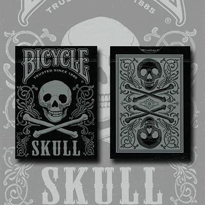 Bicycle Skull Metallic (Silver) USPCC by Gambler's Warehouse
