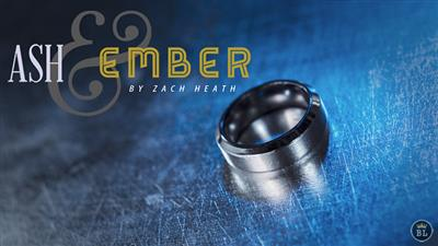 Ash and Ember Silver Beveled Size 9 (2 Rings) by Zach Heath  - Trick