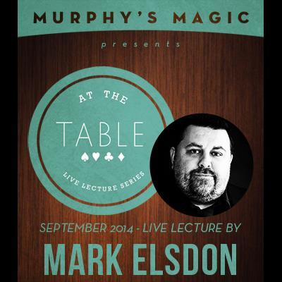 At the Table Live Lecture - Mark Elsdon 9/24/2014 - video DOWNLOAD