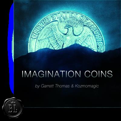 Imagination Coins Euro (DVD and Gimmicks) by Garrett Thomas and Kozmomagic - DVD