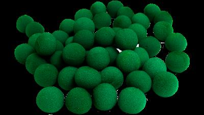 1'' Super Soft Sponge Ball (Green) Bag of 50 from Magic By Gosh