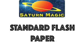 Saturn Magic Standard Flash Paper Sheet approx 200mm x 250mm / 8 x 10 inches