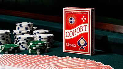 Red V2 Cohorts (Luxury-pressed E7) Playing Cards