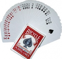 Forcing Deck 2 Way Bicycle Poker Blue