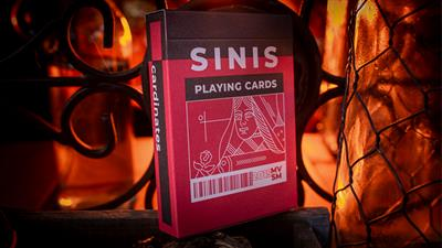 Sinis (Raspberry and Black) Playing Cards by Marc Vento