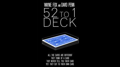 The 52 to 1 Deck Blue (Gimmicks and Online Instructions) by Wayne Fox and David Penn - Trick
