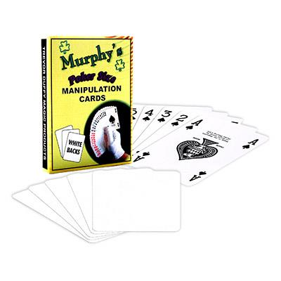 Manipulation Cards-POKER SIZE/WHITE BACK (For Glove Workers) by Trevor Duffy - Trick