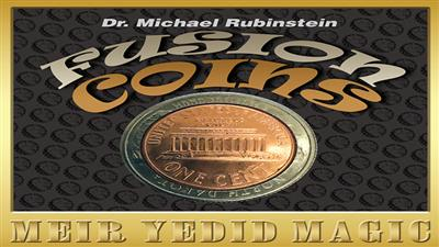 Fusion Coins Quarter (Gimmicks and Online Instructions) by Dr. Michael Rubinstein