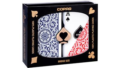 Copag 1546 Plastic Playing Cards Bridge Size Regular Index Red/Blue Double-Deck Set