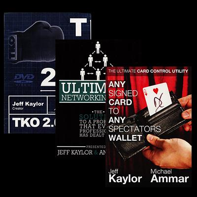 The Jeff Kaylor Sampler Pack (Includes Any Card to Any Spectator's Wallet - Black, TKO2.0, and The Ultimate Networking Tool)  - Trick