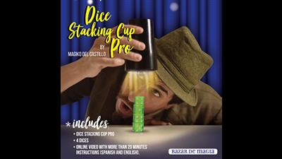Dice Stacking Cup Pro (Gimmicks and Online Instructions) by Bazar de Magia - Trick