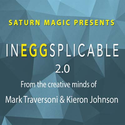 InEGGsplicable 2.0 Card in Egg (Brown Egg Version) by Kieron Johnson & Mark Traversoni