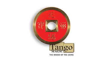 Dollar Size Chinese Coin (Red and Blue) by Tango (CH039)