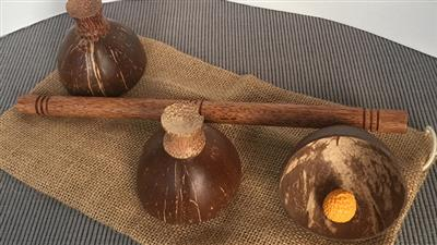 Cheppum Panthum Coconut Shell Cups and Wand set by Gary Kosnitzky - Trick