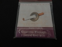 Cigarette Note or Other Object Through £1 Pound Coin