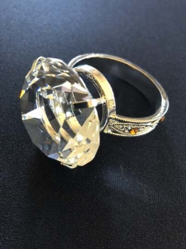 Comedy Jumbo Diamond Style Ring approx 40mm Diameter