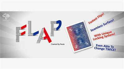 Modern Flap Card (Blue to Red) by Hondo