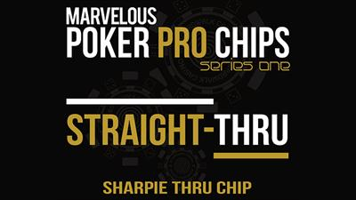 Straight Thru - Sharpie Thru Chip (Gimmicks and Online Instructions) by Matthew Wright - Trick