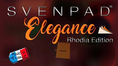 SvenPad® Elegance Rhodia® Edition (Single, Orange Cover) - Trick