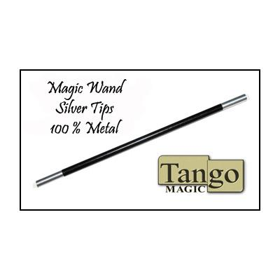 Magic Wand in Black (with silver tips) by Tango -Trick (W001)