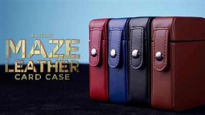 MAZE Leather Card Case (Blue) by Bond Lee - Trick