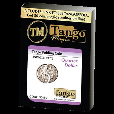 Tango Folding Coin Quarter Dollar Traditional Single Cut (D0180) by  Tango - Trick