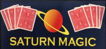 10 Saturn Magic Flash Paper RED CARD BACKS