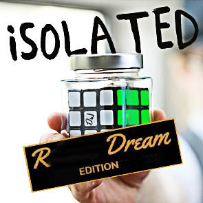 ISOLATED RUBIKS DREAM EDITION - Signed Rubiks Cube in Jar by Kieron Johnson