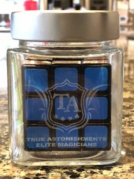 Laser Engraved Upgrade for ISOLATED - Signed Rubiks Cube in Jar by Kieron Johnson